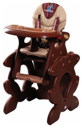 Caretero Primus hnědá jídelní židlička + ZÁRUKA 3 ROKY