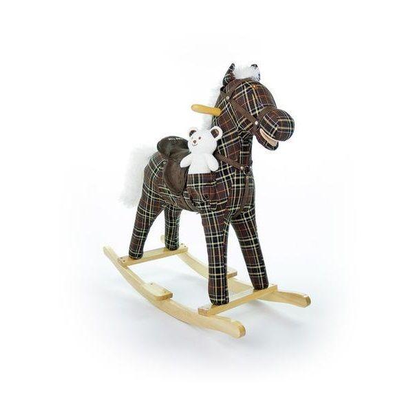 Houpací koník Milly Mally Mustang hnědý kostkovaný