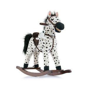 Houpací koník Milly Mally Mustang bílo-černý puntíkovaný