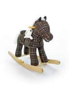Houpací koník Milly Mally Pony hnědý kostkovaný