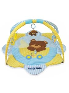 Baby Mix Hrací deka Medvídek modrožlutá