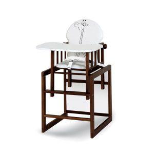 Klupš jídelní židlička Agnežka III Safari Žirafa ecru ořech