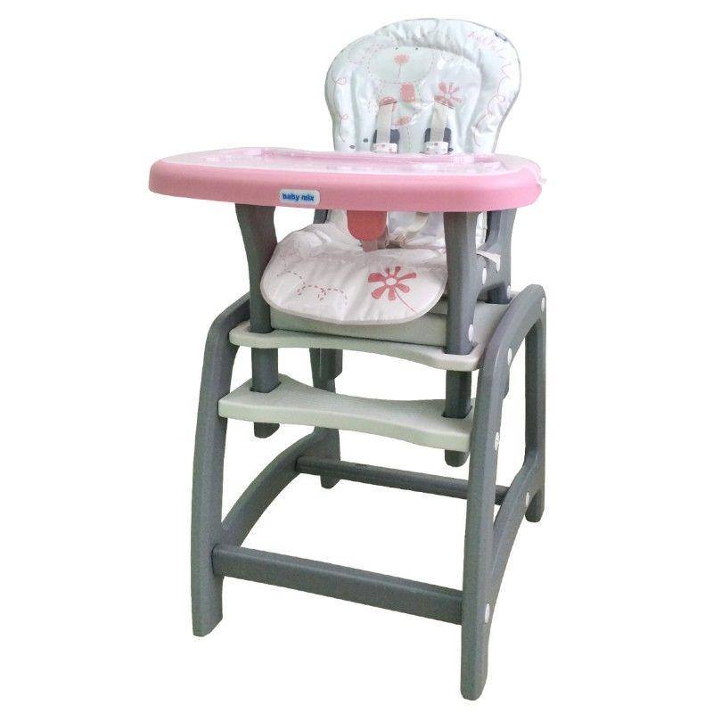 Jídelní židlička Baby Mix 2v1 růžová