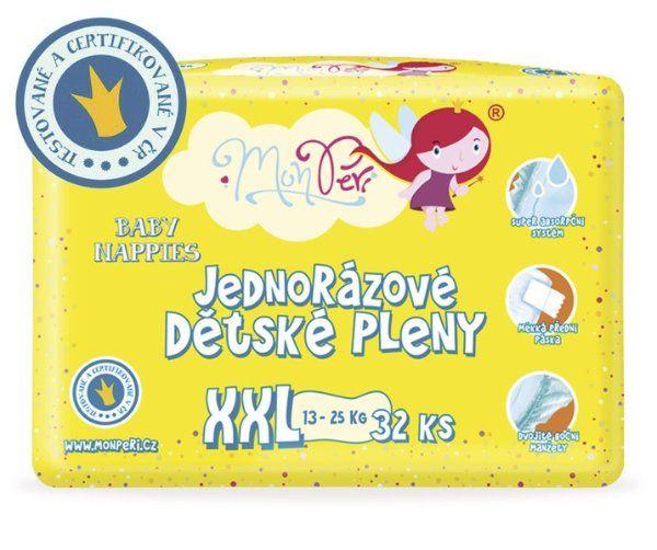 MonPeri jednorázové dětské plenky XXL 13-25 kg 32 ks