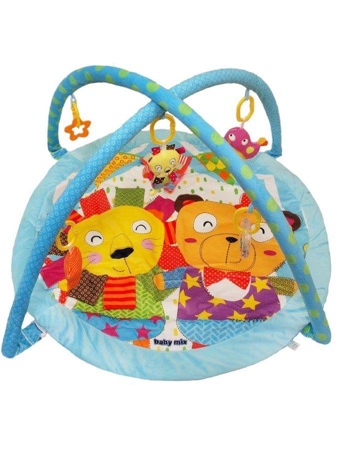 Baby Mix Hrací deka cirkus modrá