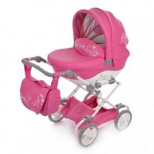 Junama Mini Kočárek pro panenky Růžová