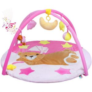 PlayTo Hrací deka s melodií Medvídek pink
