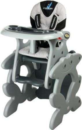 Caretero Primus šedá jídelní židlička