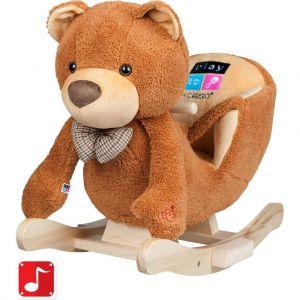 PlayTo Houpací hračka medvídek hnědá