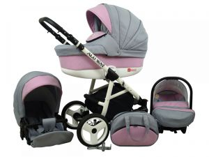 Raf pol Baby Lux Alu way 2v1 2020 Light Pink
