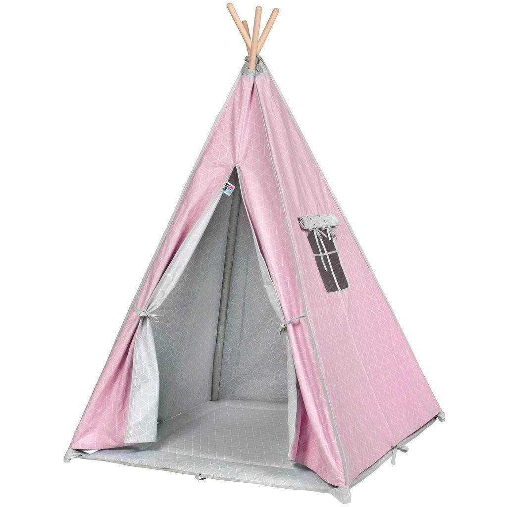PlayTo Dětský luxusní stan Teepee růžový + ZÁRUKA 3 ROKY
