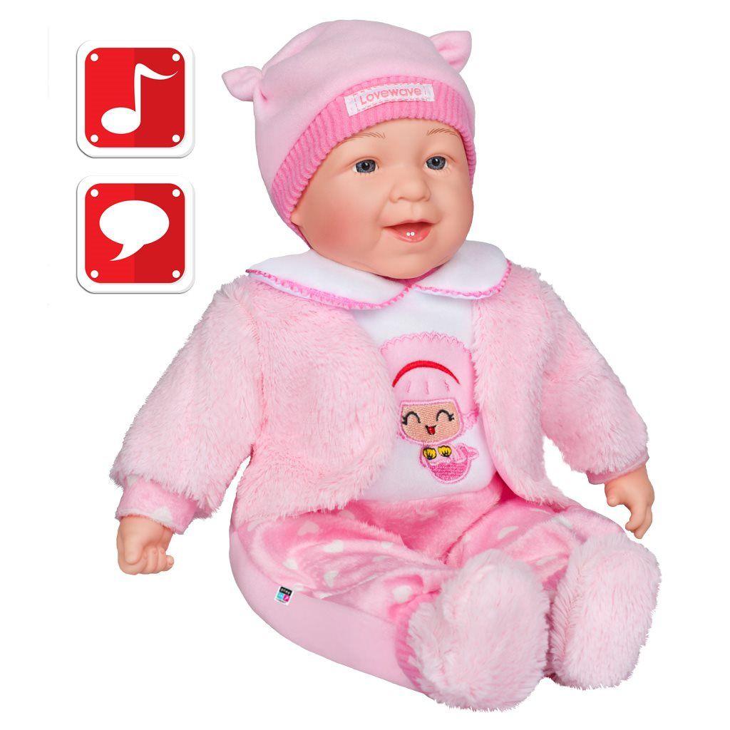 PlayTo Česky mluvící a zpívající dětská panenka Nelinka 46 cm