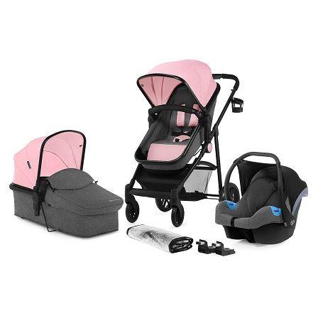 Kinderkraft Juli kombinovaný 3v1 2019 Pink + u nás ZÁRUKA 3 ROKY