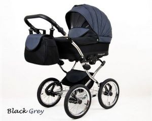 Raf-pol Baby Lux Margaret Chrome 2020 Black grey
