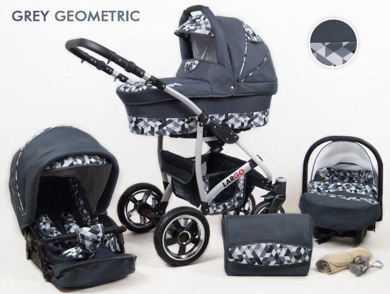 Raf-pol Baby Lux Largo 2021 Grey Geometric + u nás ZÁRUKA 3 ROKY