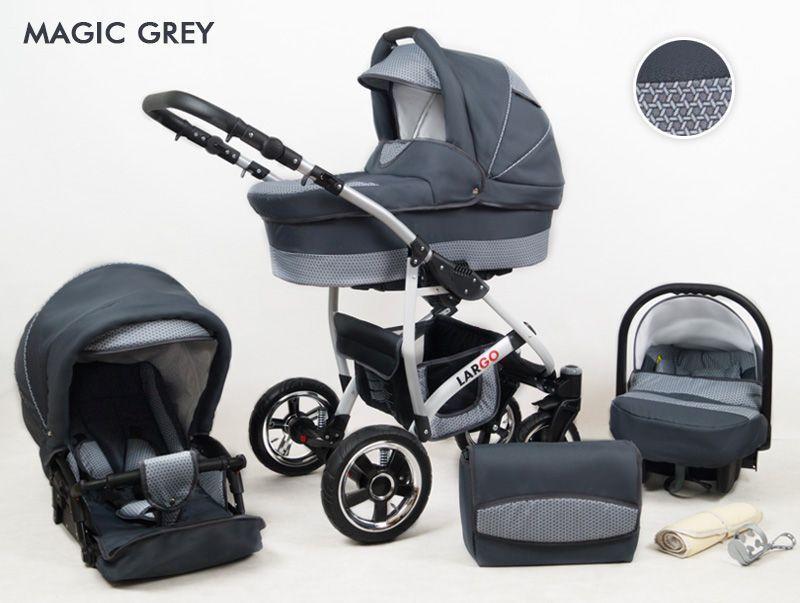 Raf-pol Baby Lux Largo 2020 Magic Grey + u nás ZÁRUKA 3 ROKY