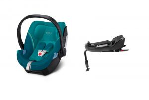 Cybex Aton 5 2021 Base 2-Fix River Blue + KAPSÁŘ ZDARMA