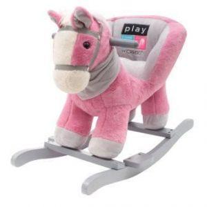 PlayTo houpací hračka s melodií koník růžová