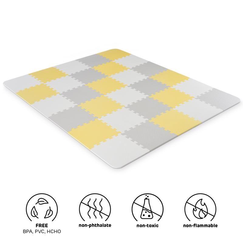 Kinderkraft Luno pěnové puzzle Yellow + u nás ZÁRUKA 3 ROKY