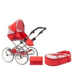 New Baby Retro 2v1 Anička červený se srdíčky + u nás ZÁRUKA 3 ROKY