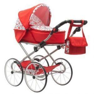 New Baby Retro 2v1 Anička červený se srdíčky