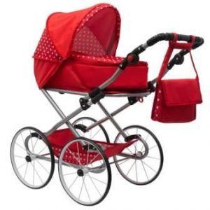 New Baby Retro 2v1 Magdalena červený s puntíky