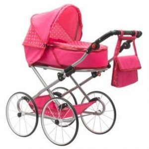 New Baby Retro 2v1 Anetka růžový s puntíky