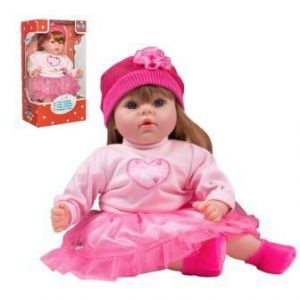 PlayTo Česky mluvící a zpívající panenka Tina 46 cm růžová