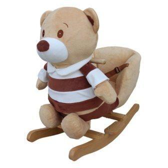 PlayTo houpací hračka s melodií medvídek pruhovaný + u nás ZÁRUKA 3 ROKY