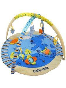 Baby Mix Hrací deka s hrazdou Medvídek 120x80 cm